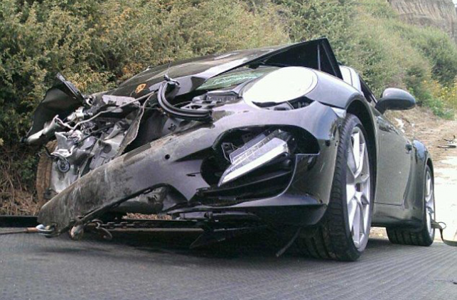 sports car damage